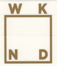 WKND Logo Sticker - bronze