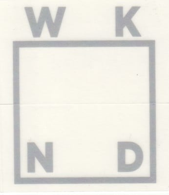 WKND Logo Sticker - silver - view large