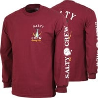 Salty Crew Tailed L/S T-Shirt - burgundy