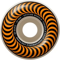 Spitfire Formula Four Classic Skateboard Wheels - white/orange classic swirl (99d)