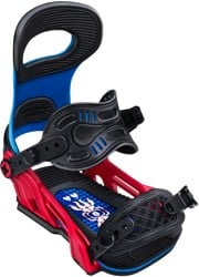 Bent Metal Forest Bailey Transfer Snowboard Bindings 2020 - blue/red