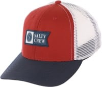 Salty Crew Pinnacle Retro Trucker Hat - navy/rust