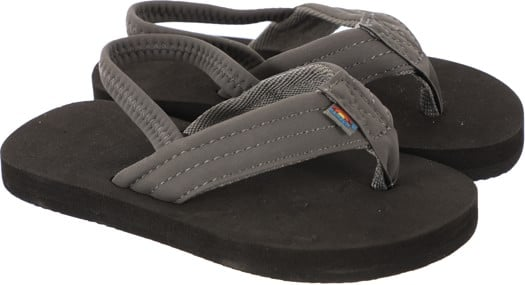 Rainbow Sandals Kids Grombow Sandals - dark grey w/ back-strap - view large
