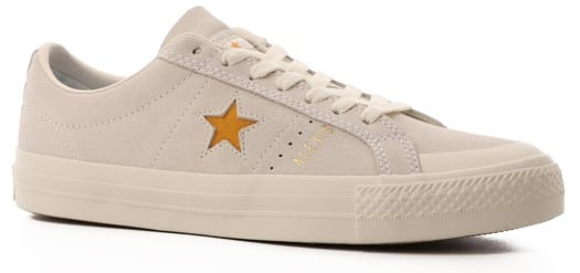 Converse One Star Pro Skate Shoes - (alexis sablone) white/coast stone/brown - view large