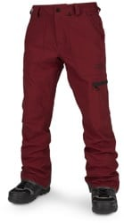 Volcom Stretch Gore-Tex Pants - burnt red