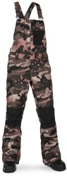 Volcom Swift Bib Overall Pants - faded army