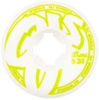 OJ From Concentrate Hardline Skateboard Wheels - green/white (101a)