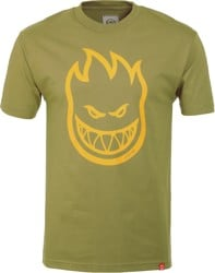 Spitfire Bighead T-Shirt - safari green/yellow
