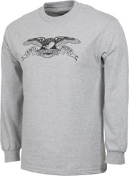 Anti-Hero Basic Eagle L/S T-Shirt - athletic heather/black