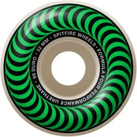 Spitfire Formula Four Classic Skateboard Wheels - white/green classic swirl (99d)