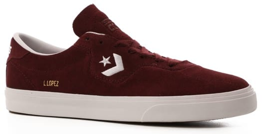 Converse Louie Lopez Pro Skate Shoes - dark burgundy/white/gum - view large