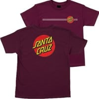 Santa Cruz Kids Classic Dot T-Shirt - burgundy