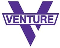 Venture Bar Diecut MD Sticker - blue