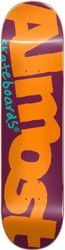 Almost Color Logo 8.125 Skateboard Deck - orange/burgundy