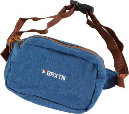 Brixton Stowell V Hip Bag - blue washed denim - view large
