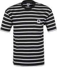 Polar Skate Co. Stripe Pocket T-Shirt - black