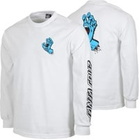 Santa Cruz Screaming Hand L/S T-Shirt - white