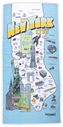 Theories NYC Tourist Towel - multi
