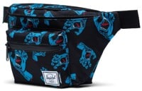 Herschel Supply Seventeen Hip Pack - (santa cruz) black cyan screaming hand