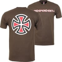 Independent Bar/Cross T-Shirt - dark chocolate
