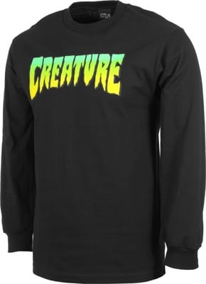 Creature Logo L/S T-Shirt - black - view large