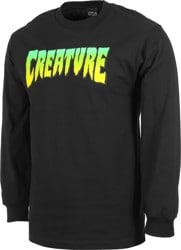 Creature Logo L/S T-Shirt - black