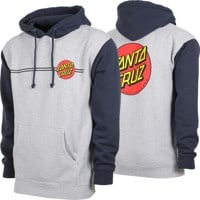 Santa Cruz Classic Dot Hoodie - grey heather/slate