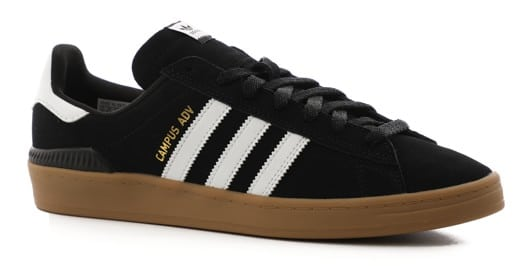 Adidas Campus ADV Skate Shoes - core black/footwear white/gum - view large