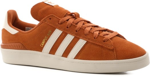 Adidas Campus ADV Skate Shoes - tech copper/chalk white/gold metallic - view large