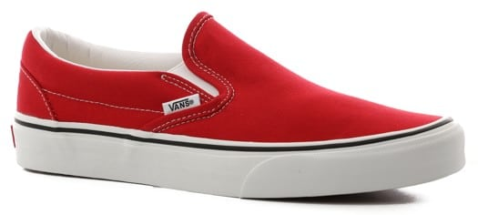 Vans Women's Classic Slip-On Shoes - racing red/true white - view large
