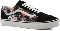 Vans Women's Old Skool Shoes - (garden floral) black/true white