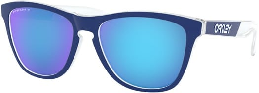 Oakley Frogskins Polarized Sunglasses - polished clear/prizm sapphire polarized lens - view large