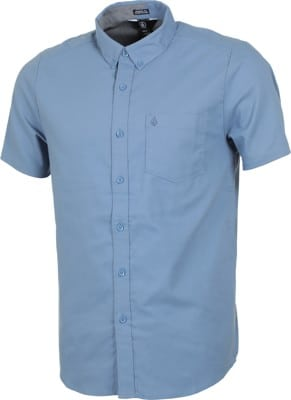 Volcom Everett Oxford S/S Shirt - blue rinse - view large