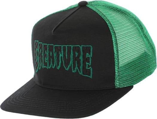 Creature Logo Check Trucker Hat - black/kelly green - view large