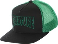 Creature Logo Check Trucker Hat - black/kelly green