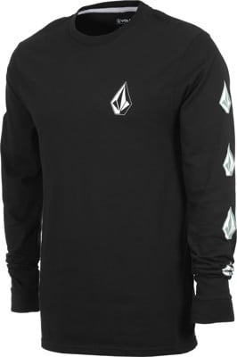 Volcom Deadly Stones L/S T-Shirt - black combo - view large