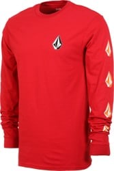 Volcom Deadly Stones L/S T-Shirt - engine red
