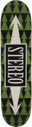 Stereo Arrow Pattern 8.0 Skateboard Deck - green