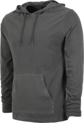 RVCA PTC Pigment Hooded L/S T-Shirt - pirate black