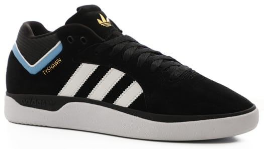 Adidas Tyshawn Pro Skate Shoes - core black/footwear white/light blue - view large