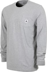 Burton Colfax L/S T-Shirt - gray heather