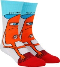 Toy Machine Insecurity Crew Sock - multi