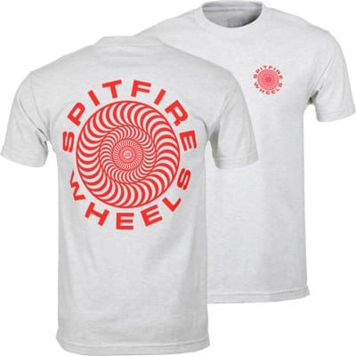Spitfire Bighead Fade Fill T-Shirt - ash/red - view large
