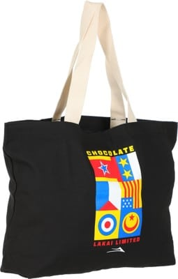 Lakai Chocolate Flags Tote Bag - black - view large