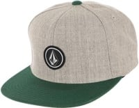 Volcom Quarter Twill Snapback Hat - evergreen