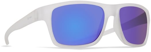 Dot Dash Futureman Sunglasses - frosted satin/blue chrome lens - view large