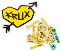 Krux Krome Phillips Skateboard Hardware - yellow krome