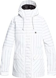 DC Shoes Cruiser Insulated Jacket - white logo pin stripe