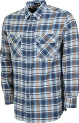 Pendleton Super Soft Burnside Flannel Shirt - light blue/navy/blue plaid