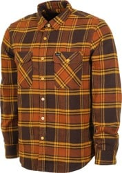 Brixton Bowery Flannel - brown/gold